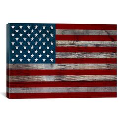 U.S. Constitution - American Flag, Wood Boards Graphic Art on Canvas