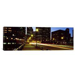 Panoramic Traffic on a Bridge in a City, Northern Avenue Bridge, Boston, Suffolk County, ...