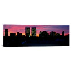 Panoramic Silhouette of Buildings in a City, Century City, City of Los Angeles, California ...
