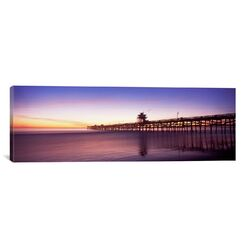 Panoramic San Clemente Pier, Los Angeles County, California Photographic Print on Canvas