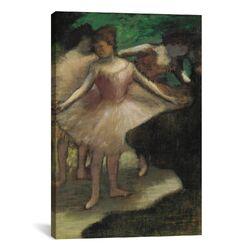 'Trois Danseuses En Rose 1886' by Edgar Degas Painting Print on Canvas