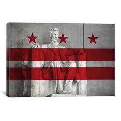 Flags Washington, D.C Lincoln Memorial Graphic Art on Canvas