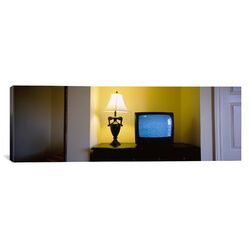 Panoramic Television and Lamp in a Hotel Room, Las Vegas, Clark County, Nevada Photographic ...