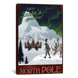 North Pole Christmas Canvas Wall Art by Steve Thomas