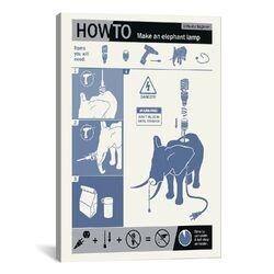 How to Build an Elephant Lamp Canvas Print Wall Art
