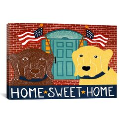 Home Sweet Home Chocolate/Yellow Canvas Print Wall Art