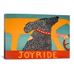 Joyride Black Canvas Print Wall Art