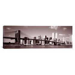 Panoramic Images Brooklyn Bridge, Hudson River, Nyc, New York City, New York State, Usa Canvas ...
