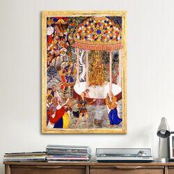 Islamic Hamza Burns Zarthusts Chest from the Hamza-nama Painting Print on Canvas
