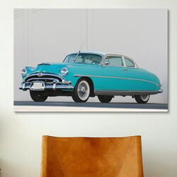 Cars and Motorcycles 1953 Hudson Hornet Twin Power Photographic Print on Canvas