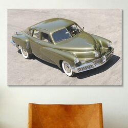 Cars and Motorcycles 1948 Tucker Sedan Photographic Print on Canvas