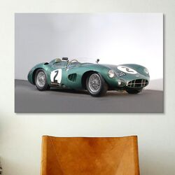 Cars and Motorcycles Aston Martin Dbr1 1959 Photographic Print on Canvas