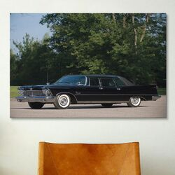 Cars and Motorcycles 1958 Chrysler Imperial Crown Limousine Photographic Print on Canvas