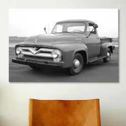 Cars and Motorcycles 1953 Ford F-100 Truck Photographic Print on Canvas