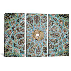 Islamic Art Photography Tomb of Hafez Mosaic 3 Piece on Canvas