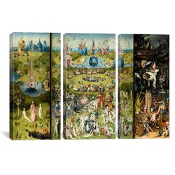 Hieronymus Bosch The Garden of Earthly Delight 3 Piece on Canvas Set
