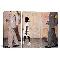 Norman Rockwell The Problem We All Live With (Ruby Bridges) 3 Piece on Canvas Set ...