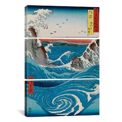 Katsushika Hokusai The Crashing Waves 3 Piece on Canvas Set