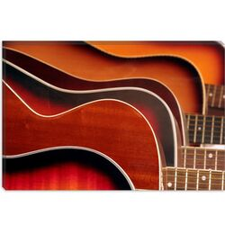 Acoustic Guitar Photographic Print on Canvas
