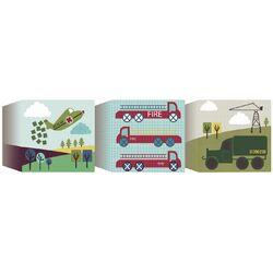 3 Piece Transportation Blocks Canvas Art Set