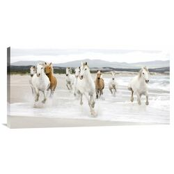 'Horses on the Beach (detail)' by Zero Creative Studio Photographic Print on Canvas