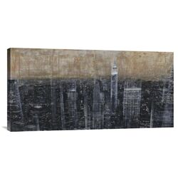 'NYC Aerial 3' by Dario Moschetta Painting Print on Canvas