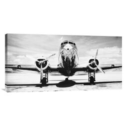 Passenger Airplane on Runway by Philip Gendreau Photographic Print on Canvas