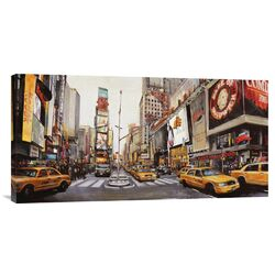 'Times Square Perspective' by John B. Mannarini Painting Print on Canvas