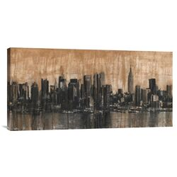 'NYC Skyline 1' by Dario Moschetta Painting Print on Canvas