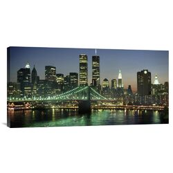 'Manhattan Skyline and Brooklyn Bridge' by Kevin Fleming Photographic Print on Canvas