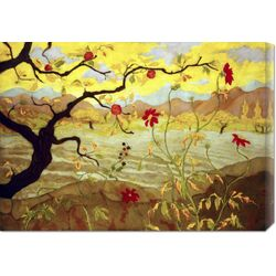 'Apple Tree with Red Fruit' by Paul Ranson Painting Print on Canvas