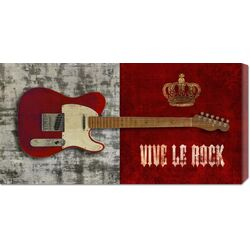 'Vive le Rock' by Steven Hill Graphic Art Canvas Art