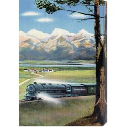 'Northern Pacific Scenic Route' by Retro Travel Painting Print on Canvas