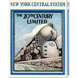 'New York Central System - The 20th Century Limited' by Retro Travel Vintage Advertisement on ...