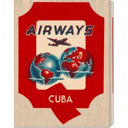 'Q Airways Cuba' by Retro Travel Vintage Advertisement on Canvas