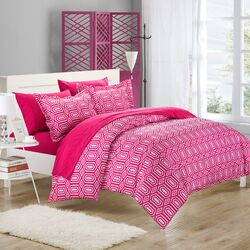Tina Printed Contemporary 7 Piece Duvet Cover Set