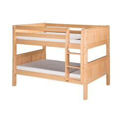 Low Bunk Bed with Panel Headboard