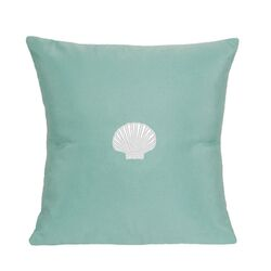 Scallop Embroidered Sunbrella Fabric Indoor/Outdoor Pillow