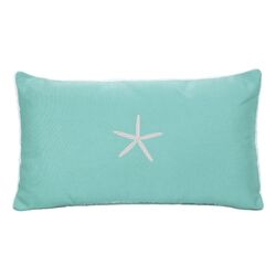 Starfish Embroidered Sunbrella Fabric Indoor/Outdoor Pillow