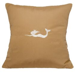 Mermaid Embroidered Sunbrella Fabric Indoor/Outdoor Pillow