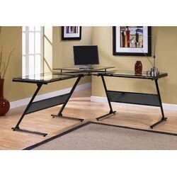 Delano Glass L-Shape Computer Desk