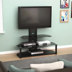 Ezra Flat Panel TV Stand with Integrated Mount