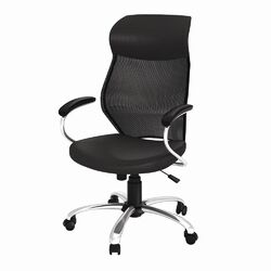 1149Manager Mesh and Leather Care Chair