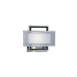 Amarillo 2 Silver Accent Wall Sconce in Brushed Nickel