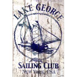Lake George Sailing Club Barn Siding Graphic Art Plaque