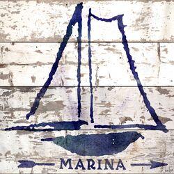 Marina Reclaimed Wood - White Barn Siding Art