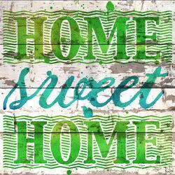 Home Sweet Home Barn Siding Textual Art Plaque