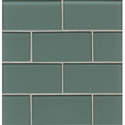 Hamptons Glass Glossy Field Tile in Wave