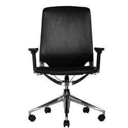 Marco Mid-Back Leather Chair with Adjustable Armrest