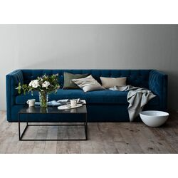 Devon Linen Mercer Tufted Sofa